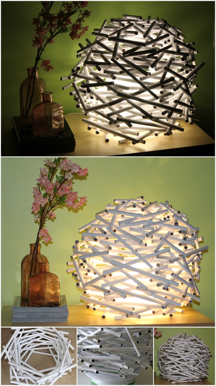 These 20 Stunning DIY Paper Lanterns and Lamps for Recycled Paper Lamp  585ifm