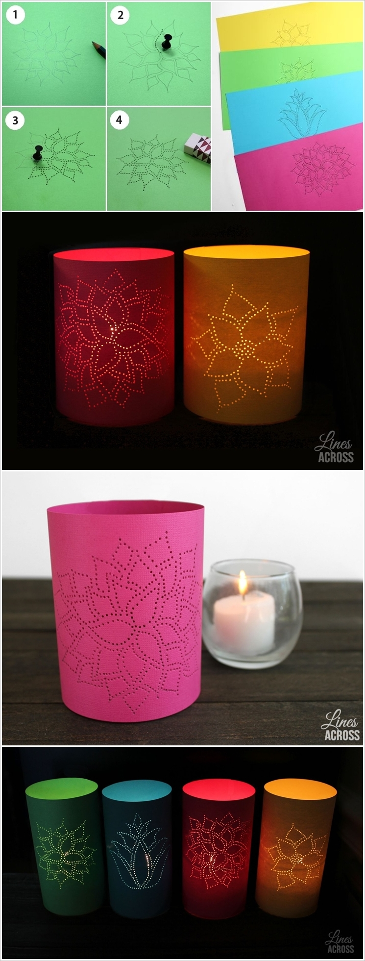 These 20 stunning diy paper lanterns and lamps for How to make paper lanterns easy