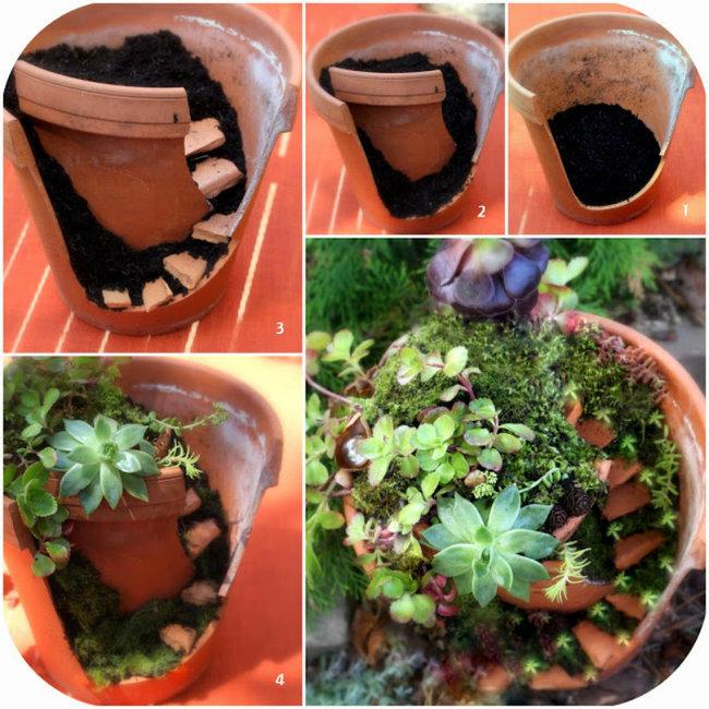 Incredible Broken Pot Ideas Recycle Your Garden: Top DIY 35 Magical Fairy Garden Ideas