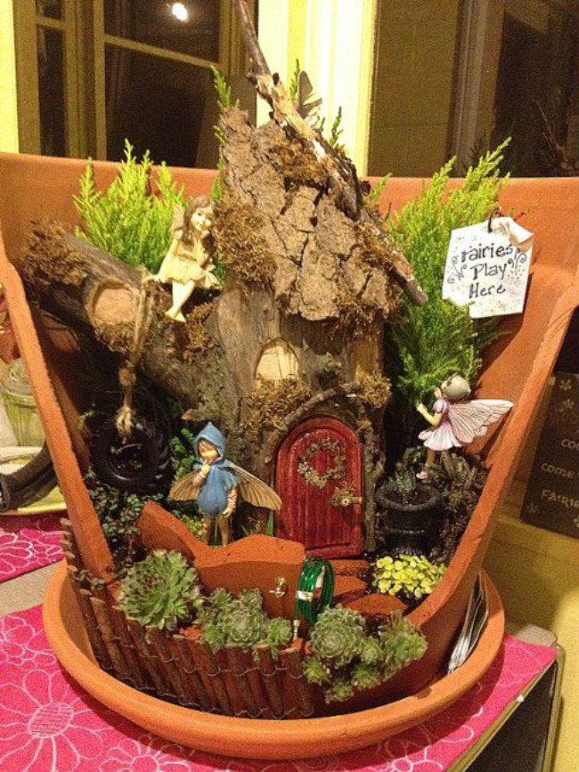Top diy 35 magical fairy garden ideas sad to happy project for Garden trees b q