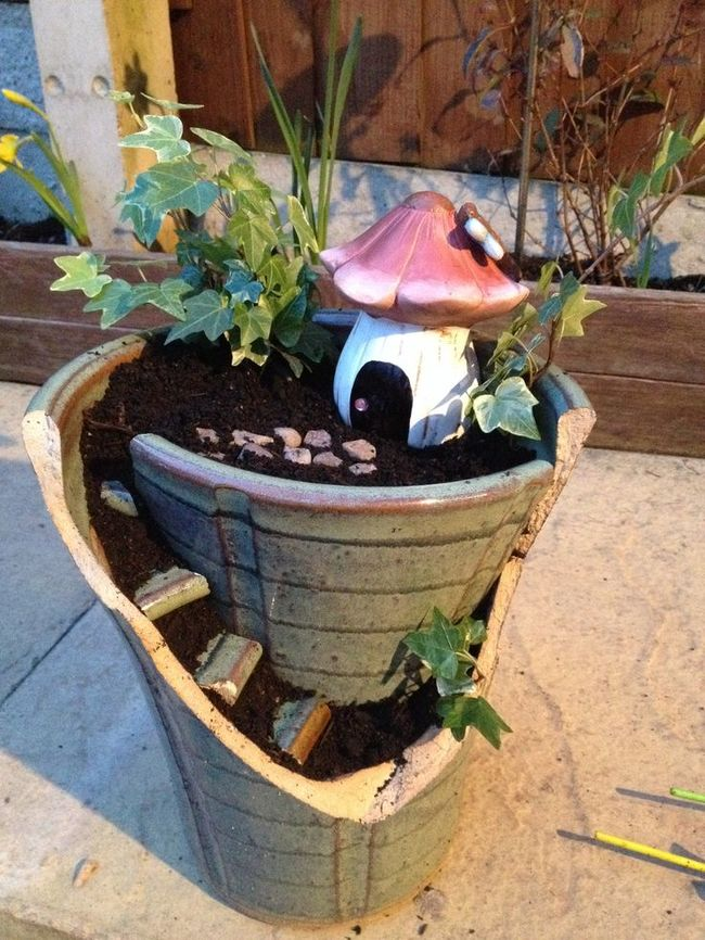 Broken Pot Fairy Miniature  DIY Garden