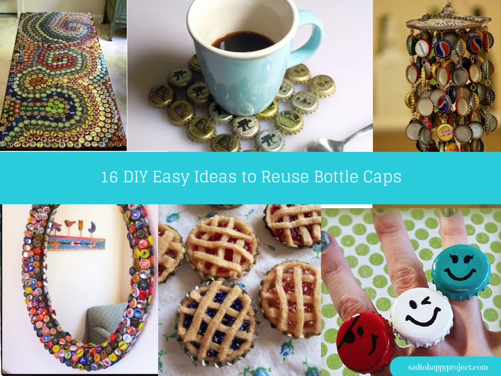 17 creative diy bottle cap art and craft ideas to reuse for Easy recycling ideas