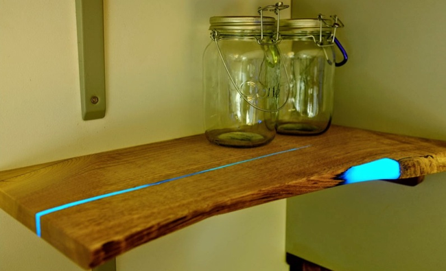 DIY Glowing Shelves Home Decor Ideas Projects10