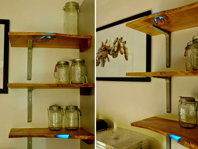 DIY Glowing Shelves Home Decor Ideas Projects12
