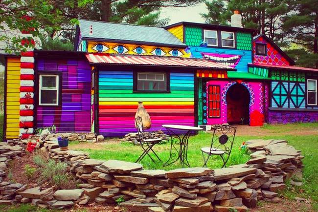 Katwise rainbow house the house that sweaters built Calico Woodstock NY 1
