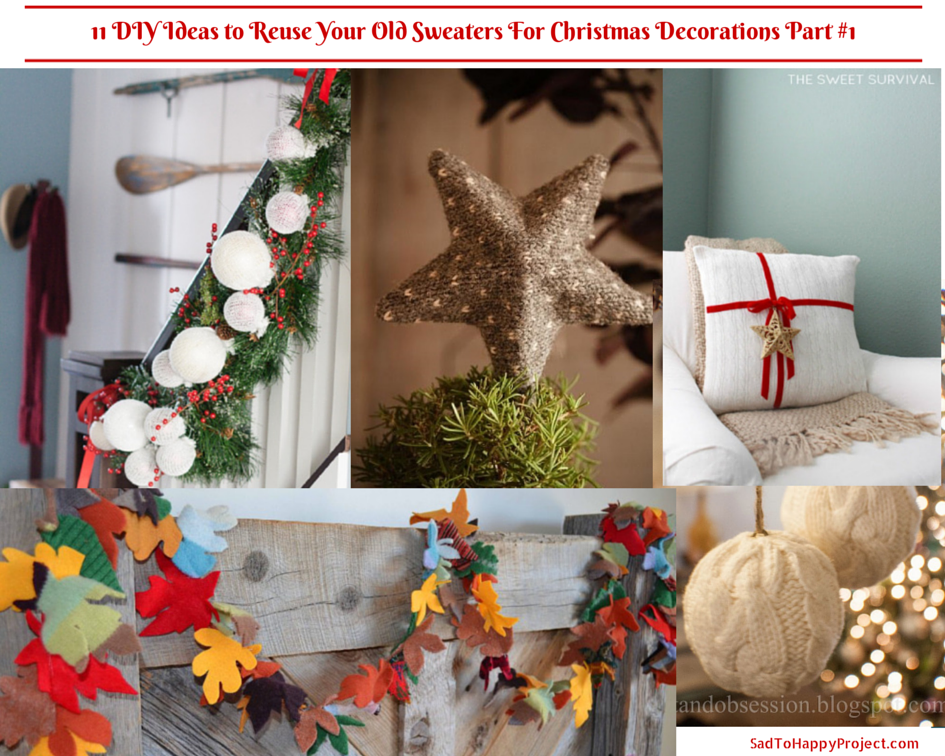 11 Diy Ideas To Reuse Your Old Sweaters For Christmas