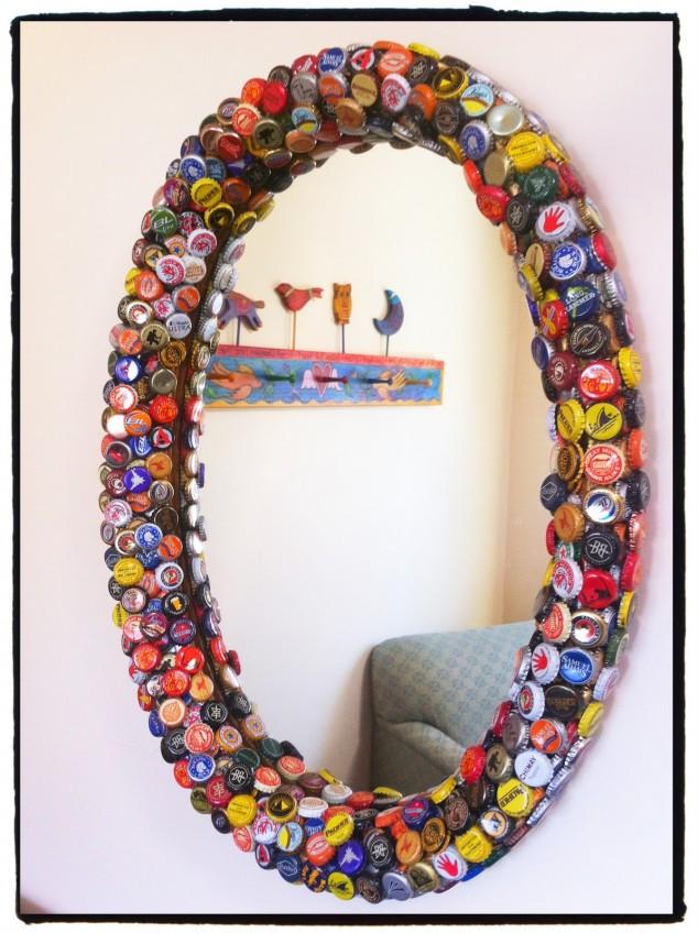diy bottle cap craft necklace art ideas15