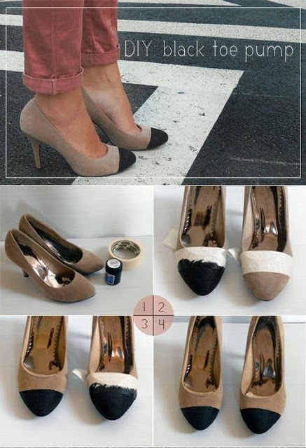 diy high heels makeover diy shoe makeover ideas10