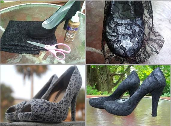 diy high heels makeover diy shoe makeover ideas12