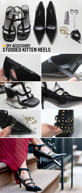 diy high heels makeover diy shoe makeover ideas14