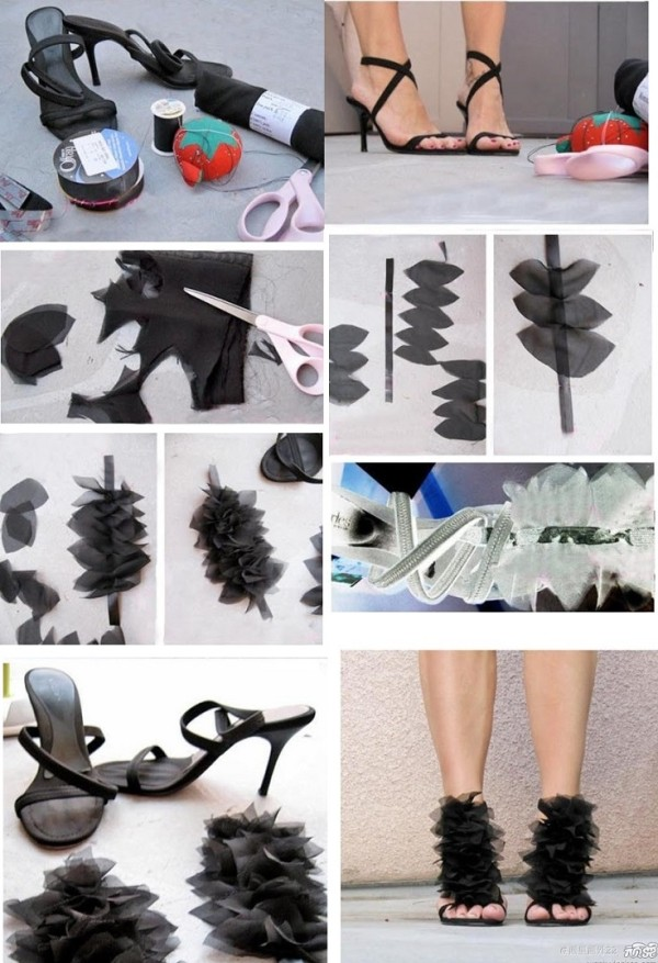 diy high heels makeover diy shoe makeover ideas7