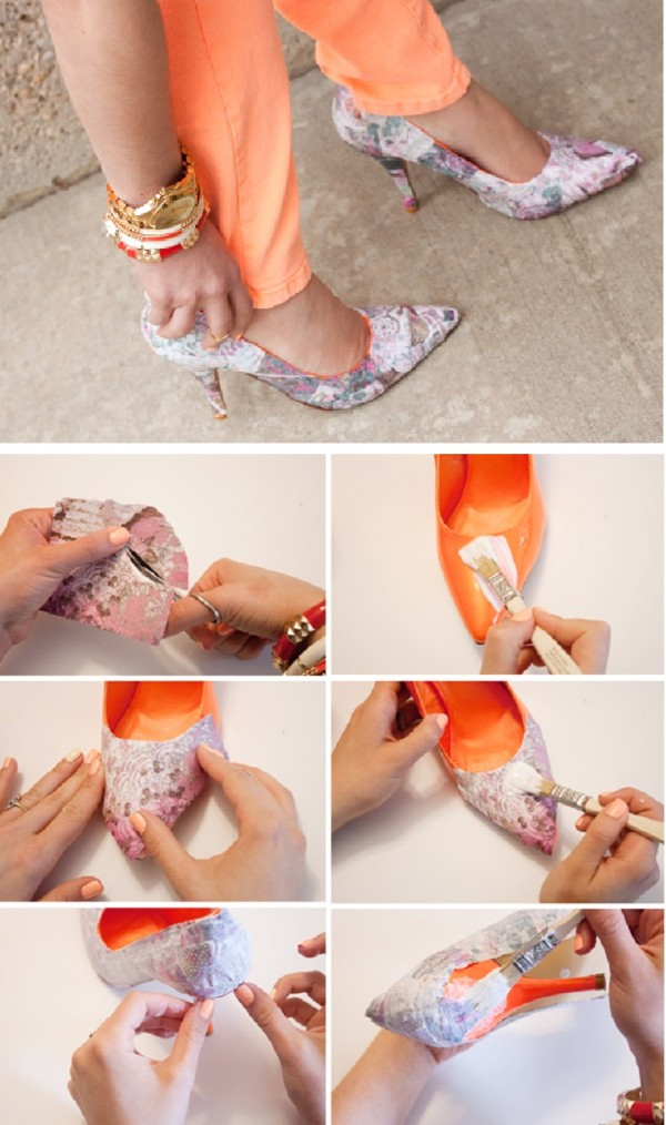 diy high heels makeover diy shoe makeover ideas8