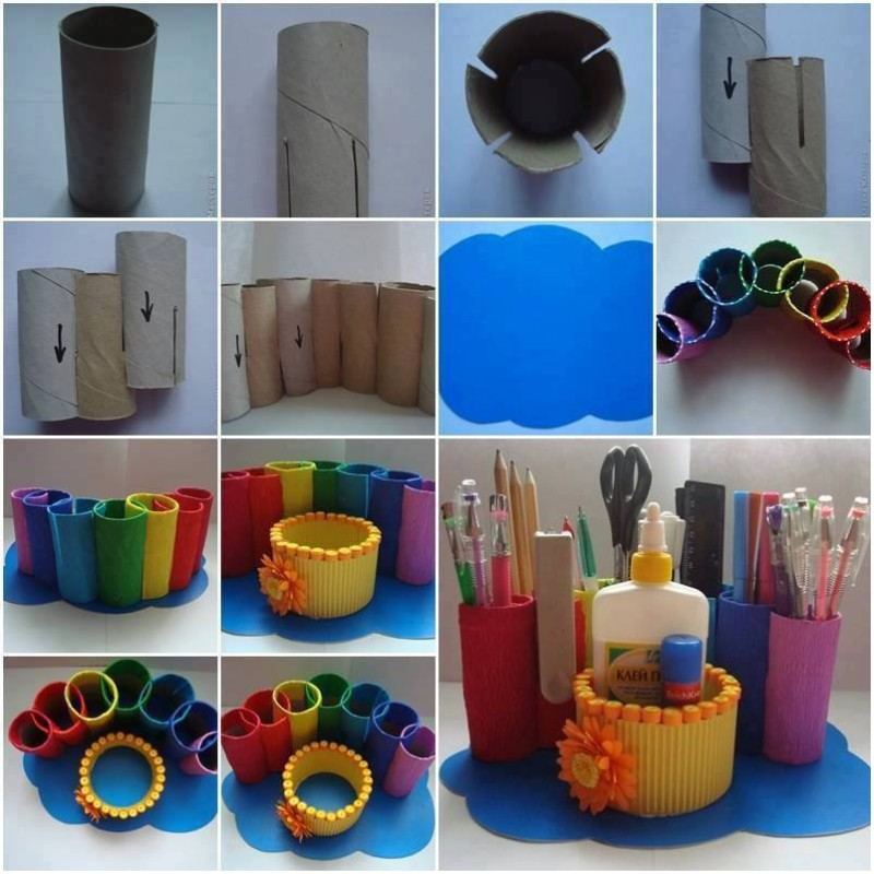 DIY Craft Paper Organizer 800 x 800