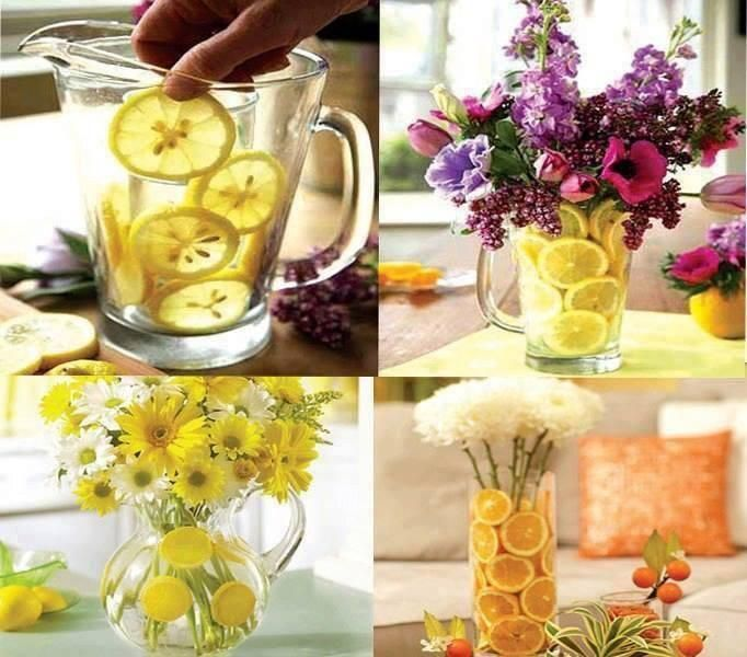 Floral Arrangement Using Fruits. Diy Home Craft Ideas ...