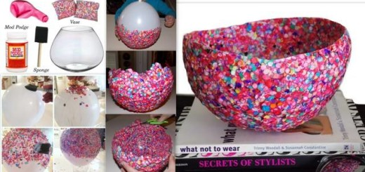 diy ideas balloon bowl DIY Yarn Bowls craf4