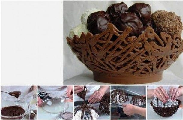 diy ideas balloon bowl DIY chocolate Bowls craft