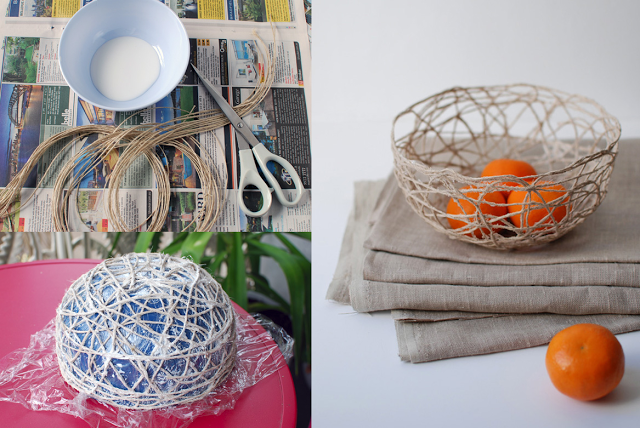 diy ideas balloon bowl DIY string Bowls craft