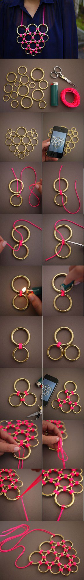 diy necklace jewelry tutorial craft ideas72