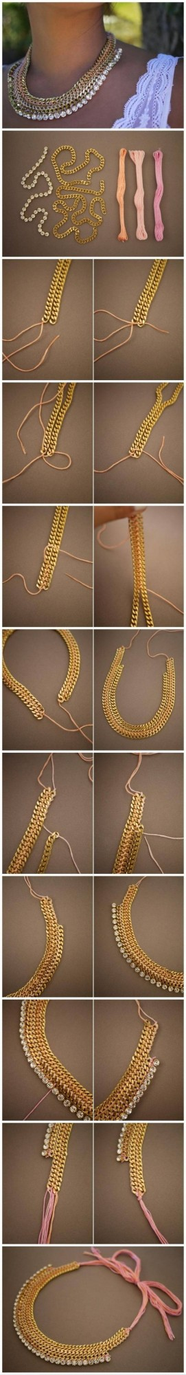 diy necklace jewelry tutorial craft ideas77