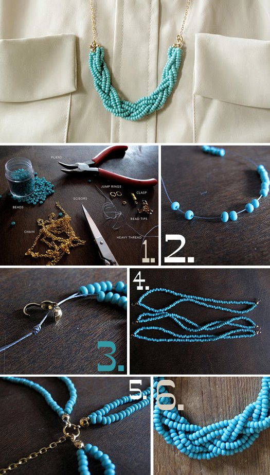 diy necklace jewelry tutorial craft ideas8