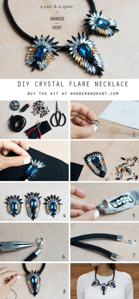 diy necklace jewelry tutorial craft ideas9