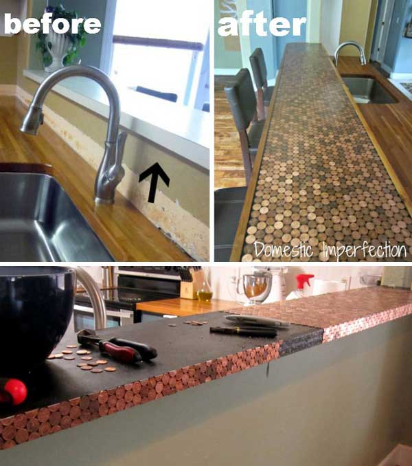 diy penny floor tile penny projects crafts ideas13