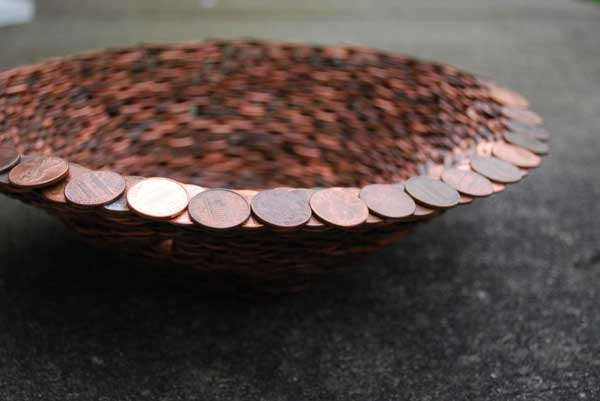 25 new diy ways to invest your pennies oddly beautiful for How to make a penny wall
