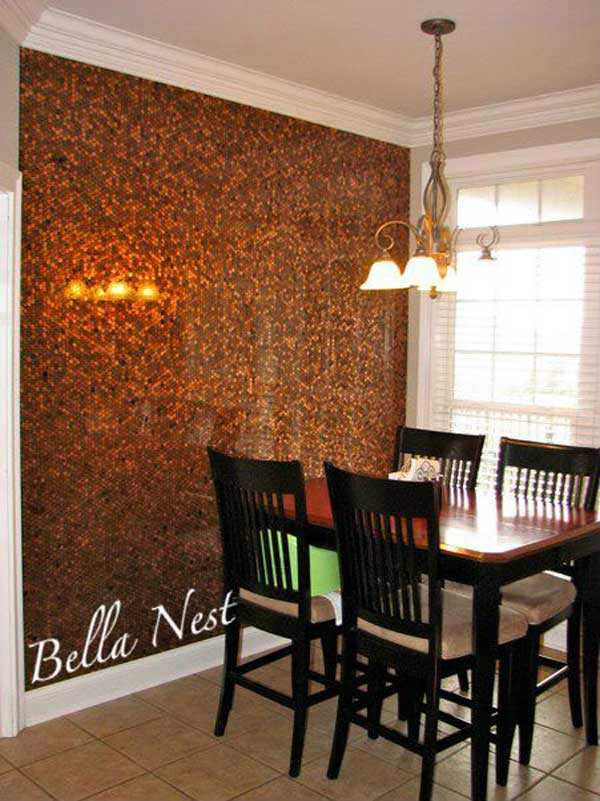 diy penny floor tile penny projects crafts ideas18