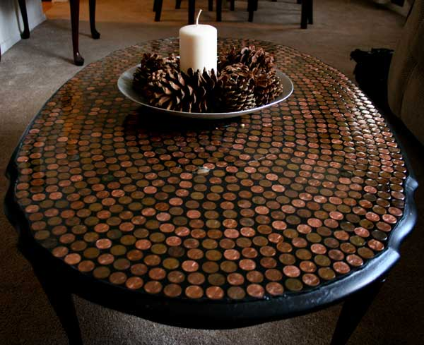 diy penny floor tile penny projects crafts ideas5