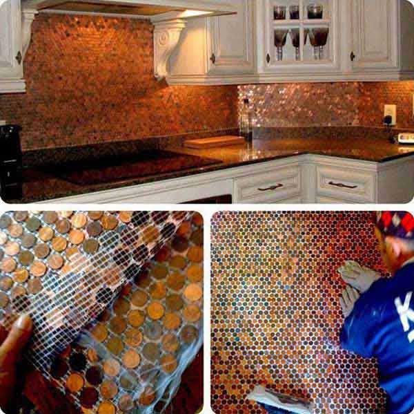 diy penny floor tile penny projects crafts ideas8
