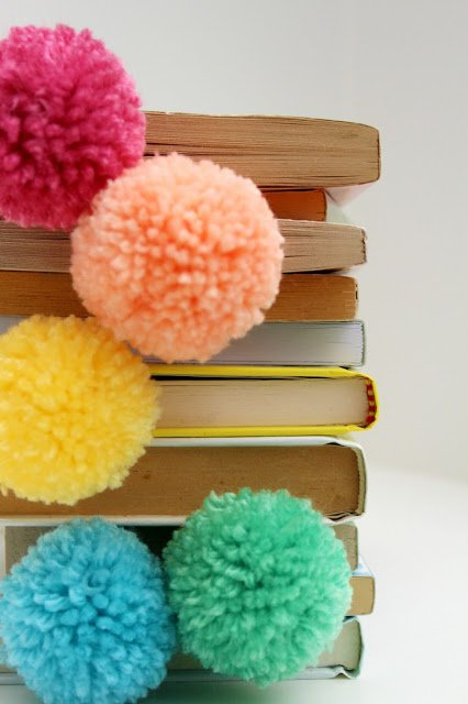 diy pom pom decorations diy pom pom bookmark