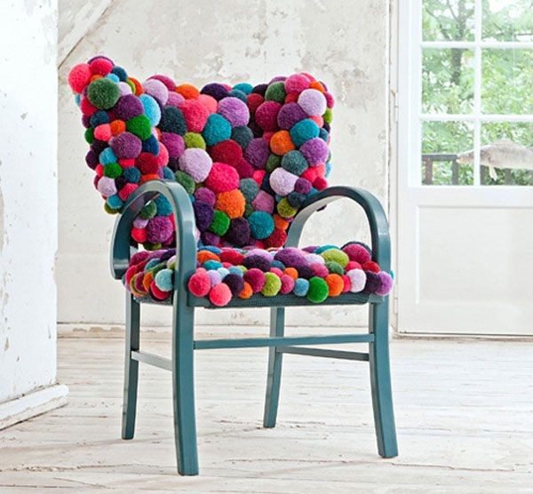 diy pom pom decorations diy pom pom chair