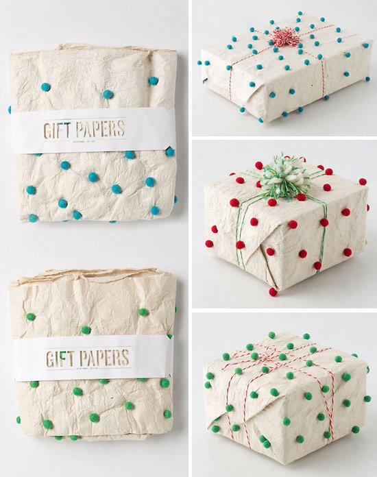 diy pom pom decorations diy pom pom gift wrapping