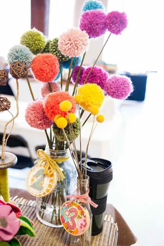 diy pom pom decorations diy pom pom home decor2
