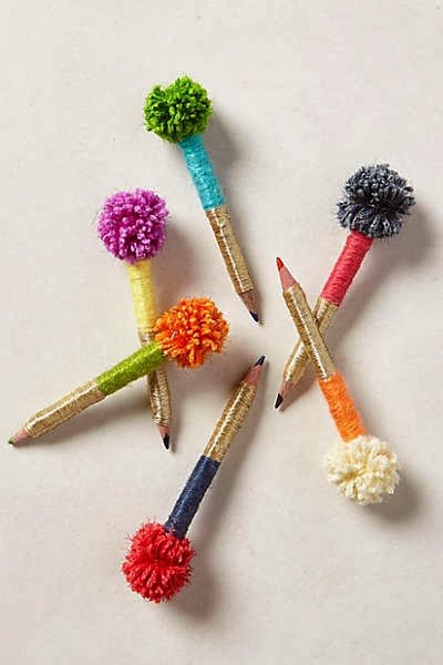 diy pom pom decorations diy pom pom pencil decoration