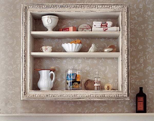 41 diy ideas to brilliantly reuse old picture frames into - Shelving for picture frames ...