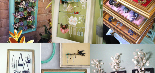 diy repurpose reuse old picture frame ideas project