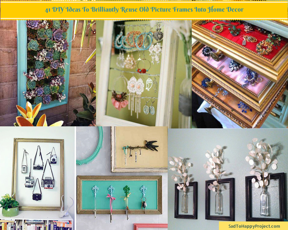 41 Ways To Reuse Old Picture Frames : DIY Recycled Craft Ideas