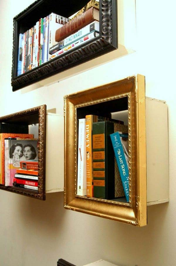 cool diy picture frame shelves in your budget