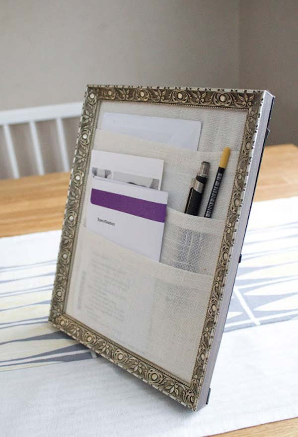 diy repurpose reuse old picture frame ideas10