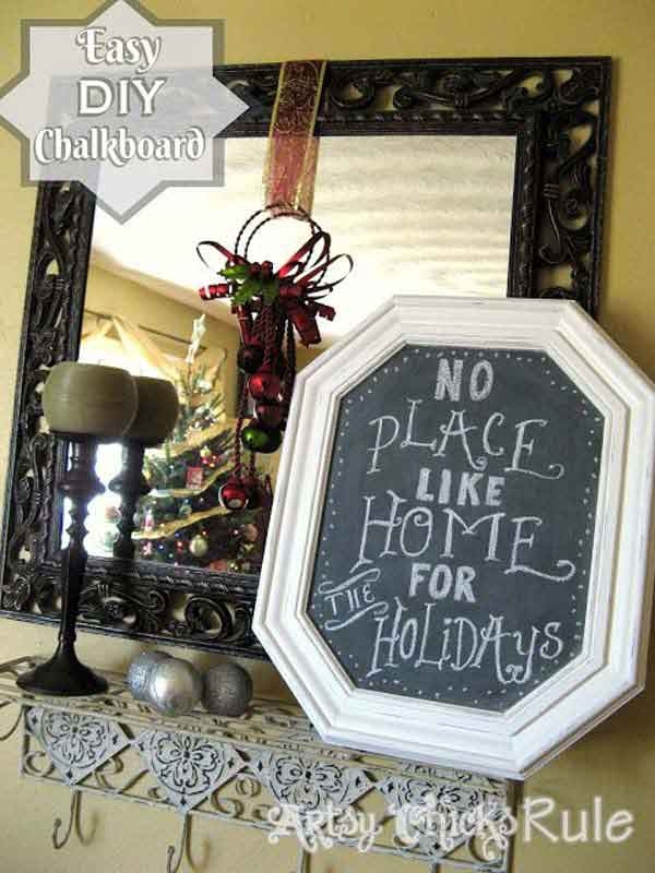diy repurpose reuse old picture frame ideas12