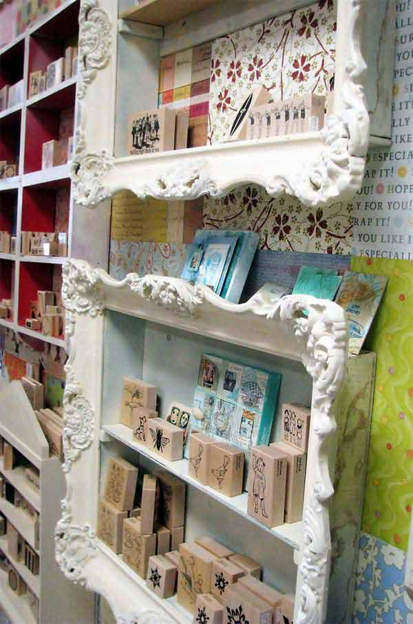 diy repurpose reuse old picture frame ideas13