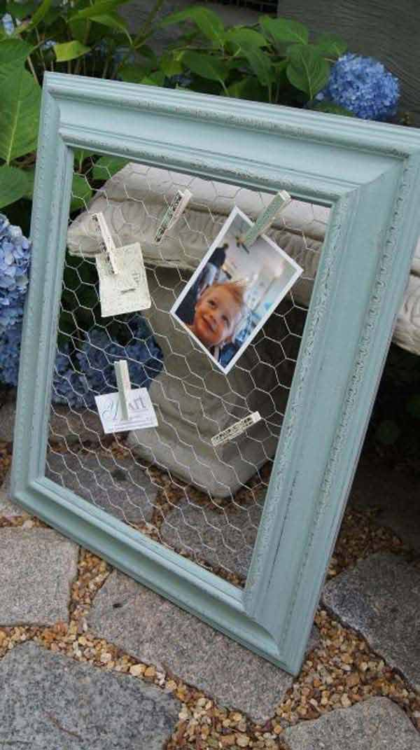 diy repurpose reuse old picture frame ideas14