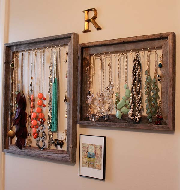 diy repurpose reuse old picture frame ideas15