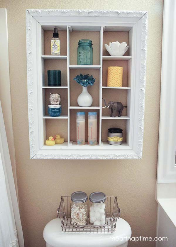 diy repurpose reuse old picture frame ideas16