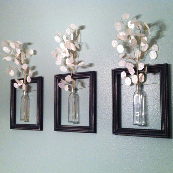 diy repurpose reuse old picture frame ideas22