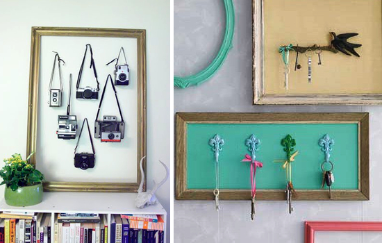 diy repurpose reuse old picture frame ideas24