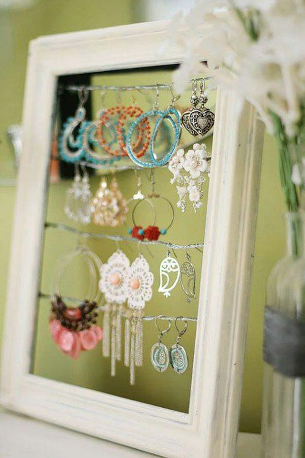 diy repurpose reuse old picture frame ideas4