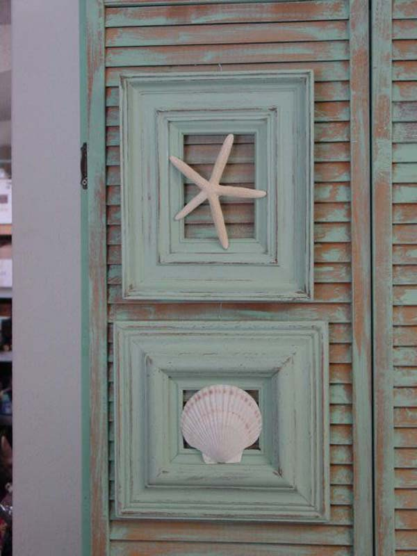 Beach Cottage Decor Out Of Old Frame And Seashells Diy Repurpose Reuse Picture Ideas5
