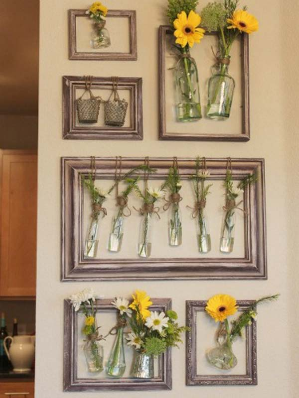 DIY Wall Decor with Old Picture Frames. 41 DIY Ideas To Brilliantly Reuse Old Picture Frames Into Home